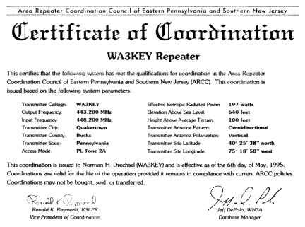 Can pennsylvania amateur radio repeater coordination can help